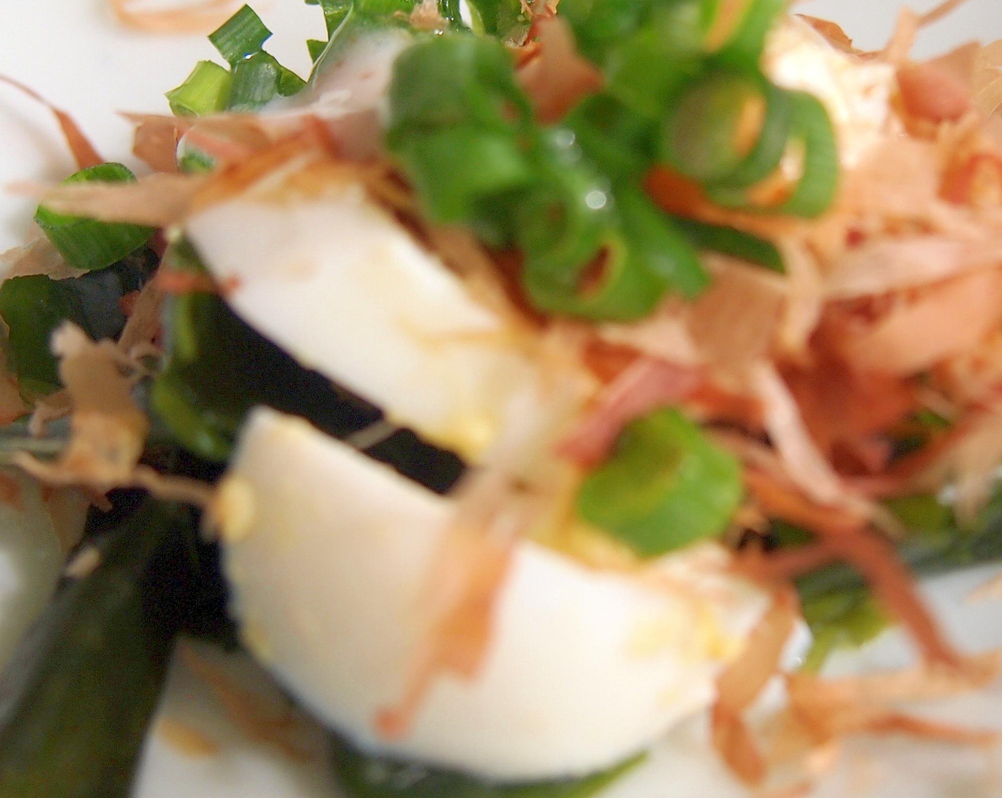 ヘルシードレッシング!卵とわかめのねぎサラダ