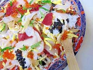 地物鮮魚で作った「函館海鮮ちらし寿司