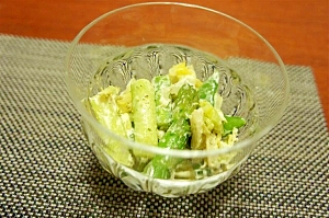 春のグリーン野菜のサラダ