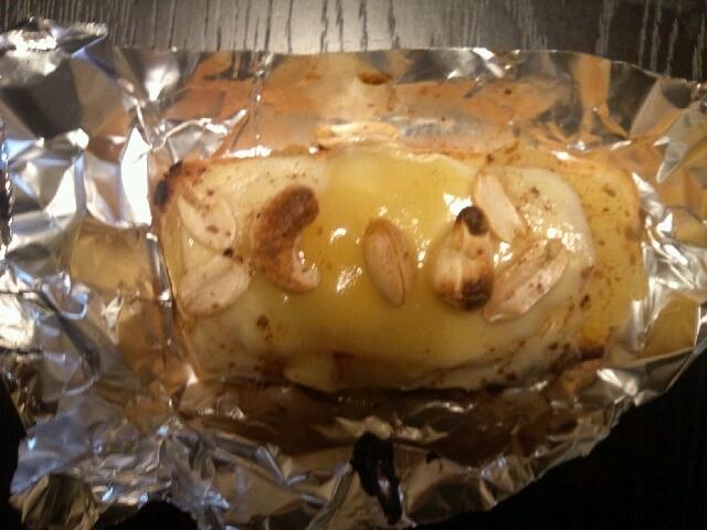 チーズケーキトースト(りんごコンポート&チーズ)