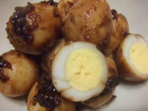 お花見弁当*おかず2*みそ炒りうずら卵