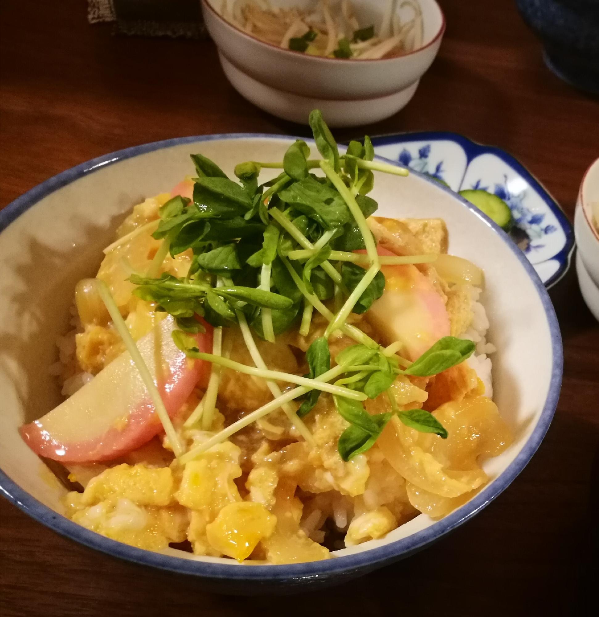 1. めんつゆで味付け簡単!木の葉丼