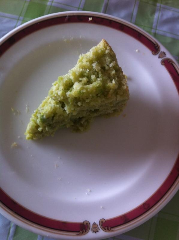 炊飯器で簡単☆えんどう豆のケーキ