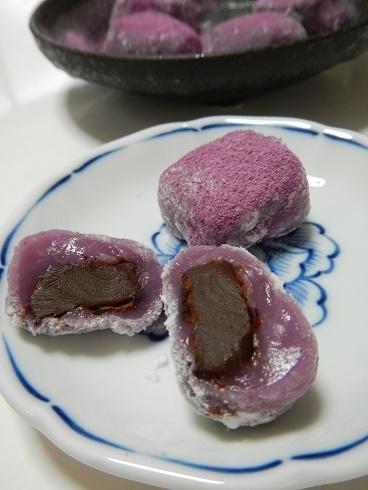 生チョコ大福(紫芋求肥)