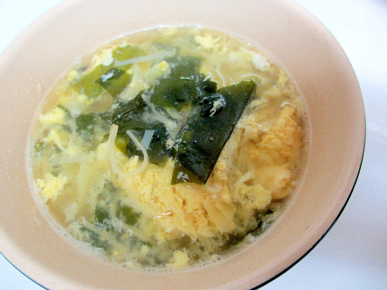 姫皮とわかめの卵スープ