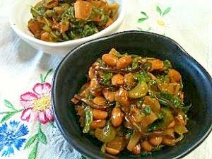 ぴりっと韓国風☆大根と納豆の和え物