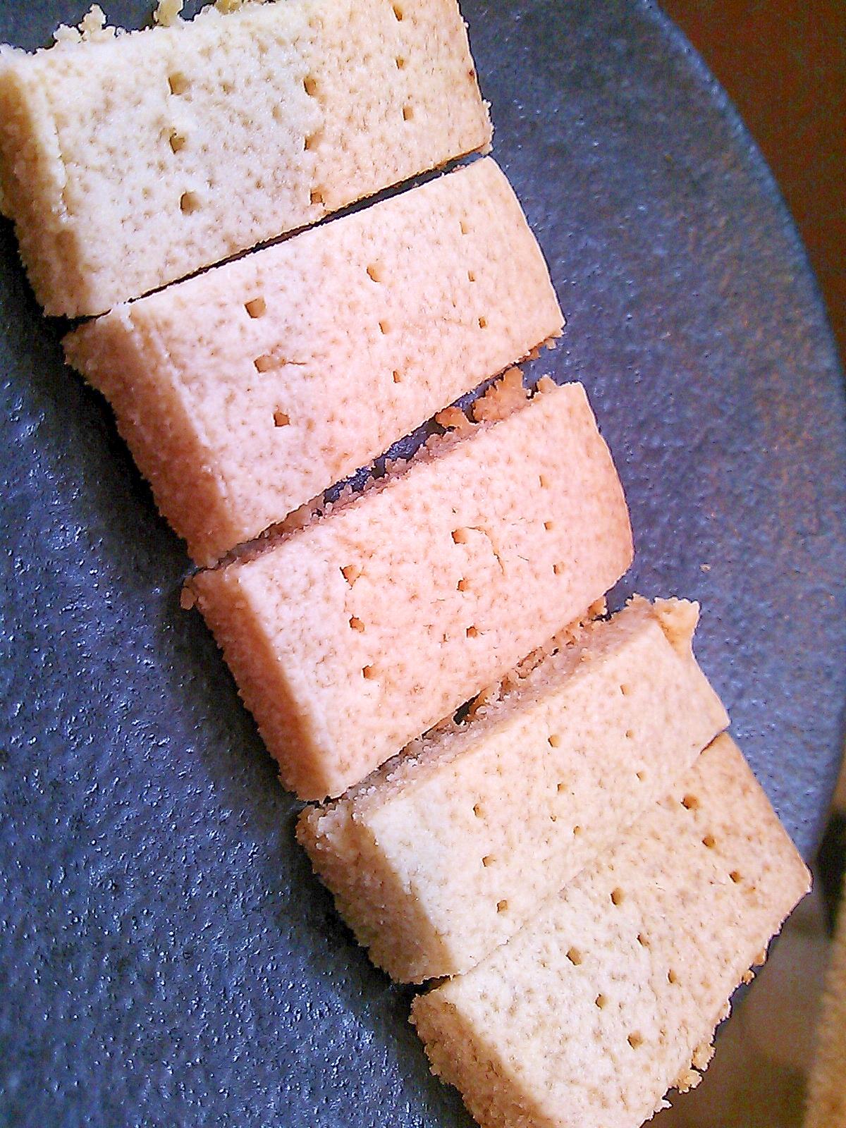 【糖質制限】チーズ味のショートブレッド