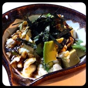 アボカドと豆腐の柚子胡椒サラダ