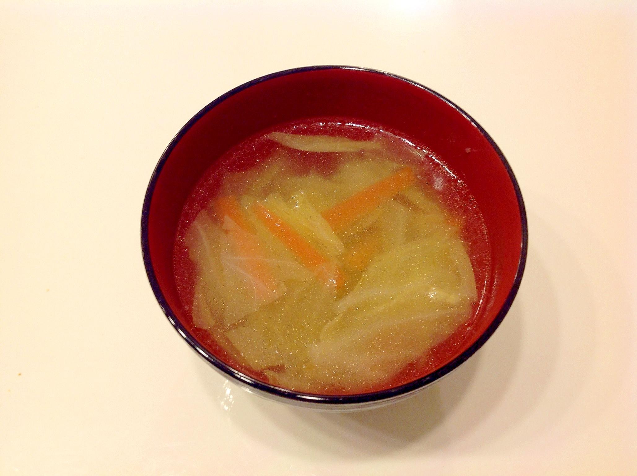 簡単中華スープ。