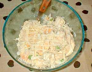 卯の花の卵サラダ