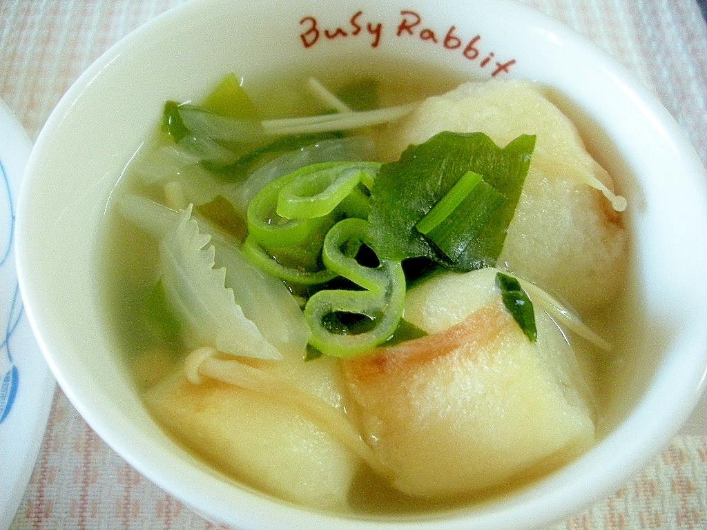 簡単!麩とわかめ入りの中華風味スープ♪