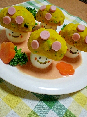 オープンサラダ☆キイコドモダケの森散歩♪