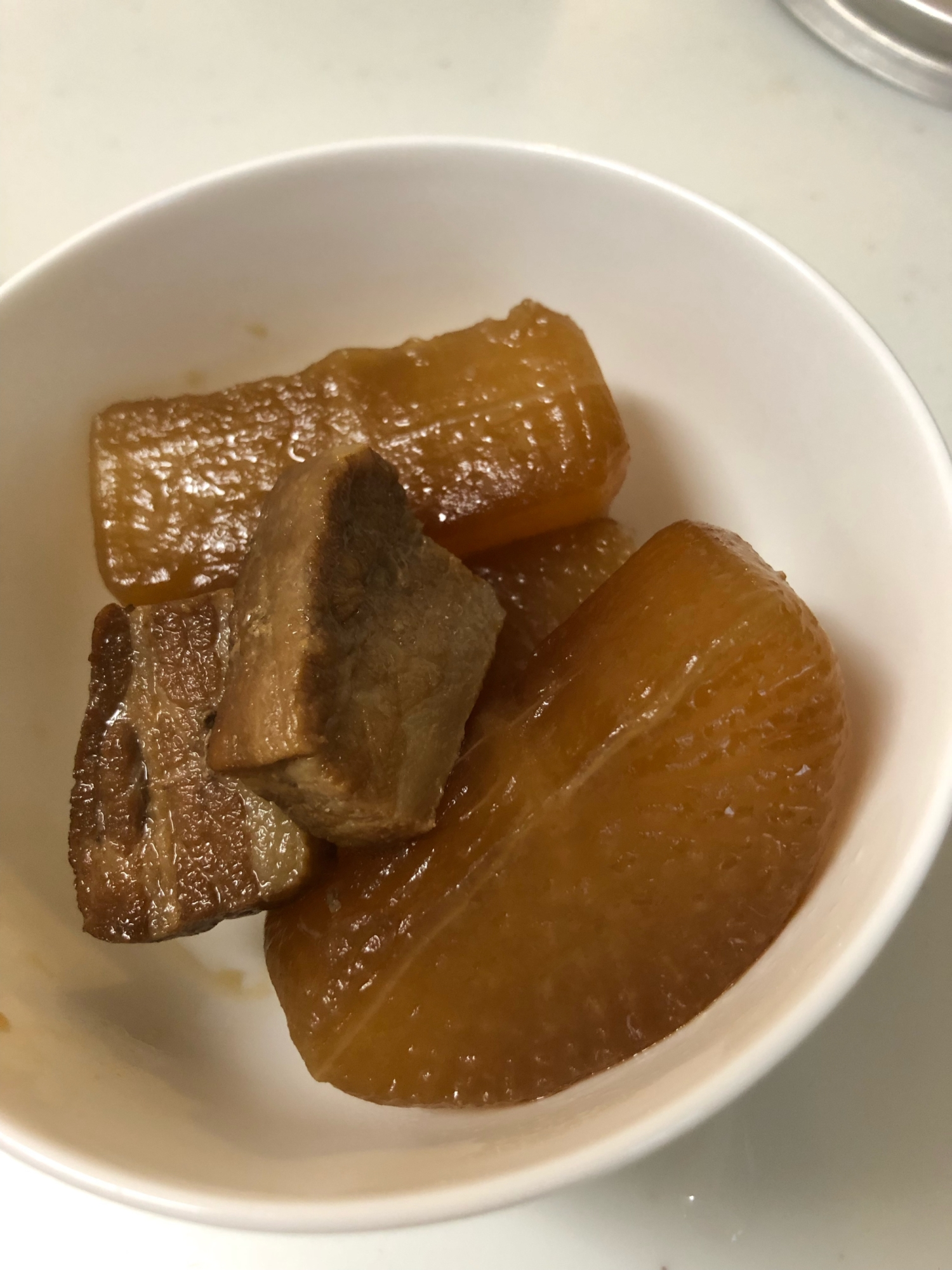 圧力鍋を使って手軽に★大根と豚バラブロックの煮物 レシピ・作り方