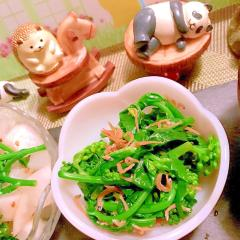 菜の花のちりめん山椒サラダ