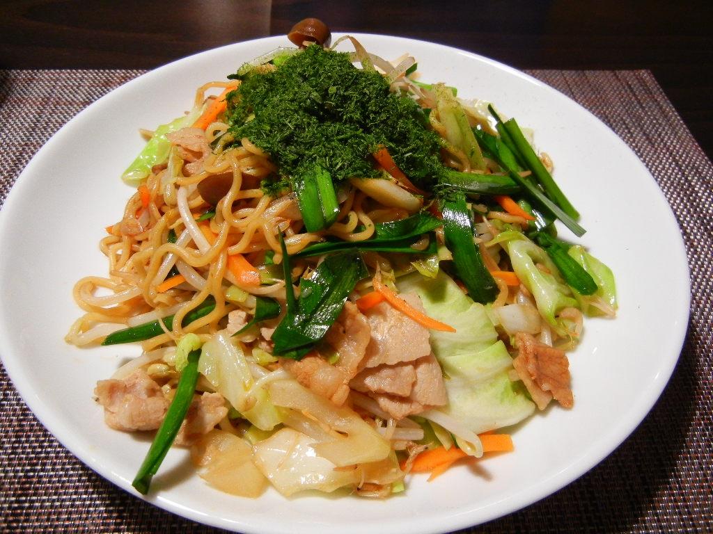 3. 野菜たっぷりカレー風味焼そば