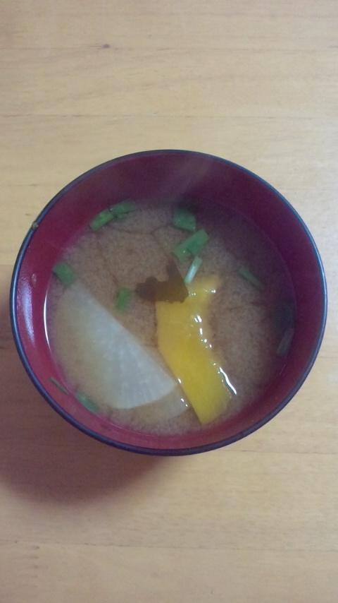 大根と南瓜のお味噌汁