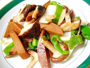 味つきソーセージと野菜の炒め物