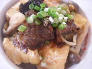 豆腐とさんまのピカタ風丼ぶり