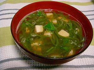 めかぶと豆腐のトロトロ汁 レシピ・作り方