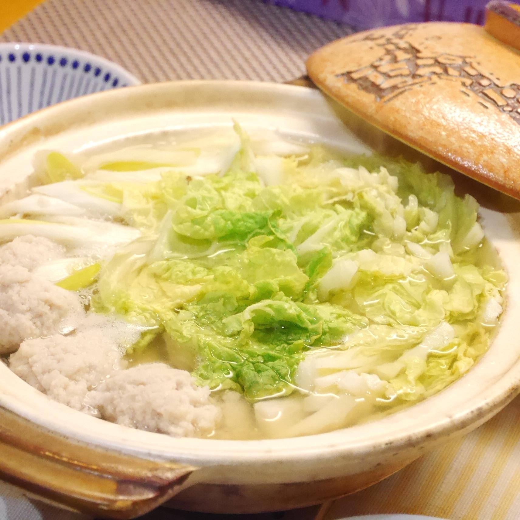 3. 蓮根つくねのちゃんこ鍋
