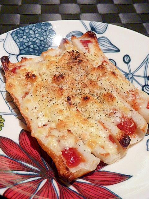 カリッ☆とろ~り♪ちくわボートピザ