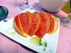 超簡単美味☆フルーツデザート・ルビグレ&アップル