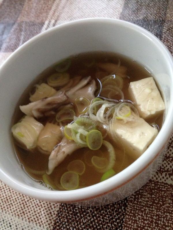 豆腐とまいたけの和風スープ