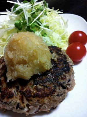 ヘルシー☆豆腐とひじきのハンバーグ
