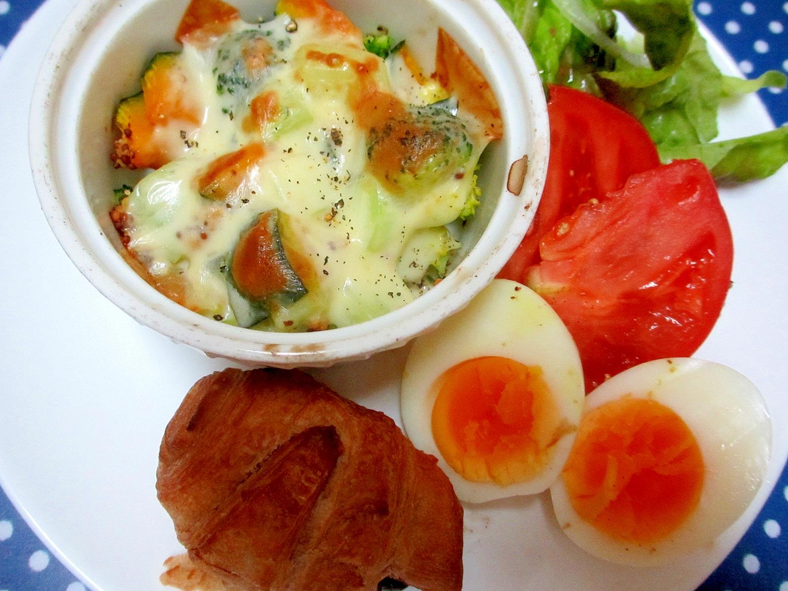 かぼちゃとブロッコリーのチーズ焼きのワンロプレート レシピ・作り方 by mococo05|楽天レシピ