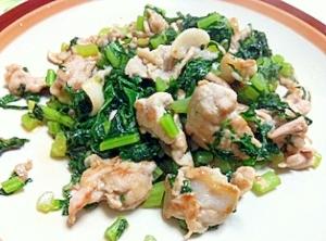 簡単♪豚バラ肉と大根葉炒め物 レシピ・作り方