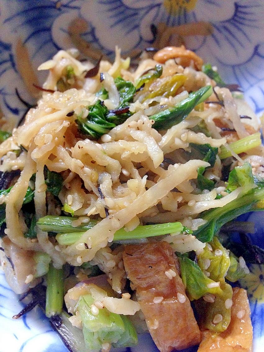 かぶ菜と切り干し大根の中華炒め
