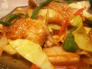 お餅の韓国風トッポギ