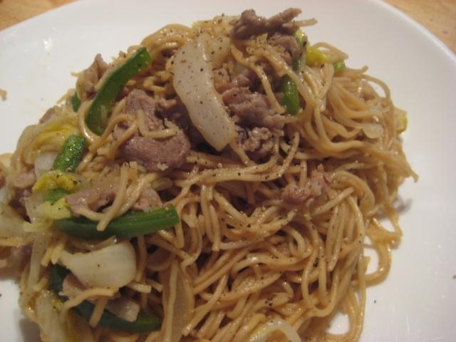 豚肉と白菜の中華風★焼きそば