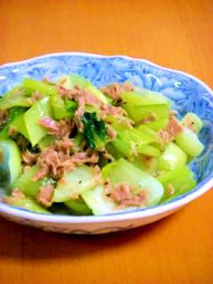 手軽でおいしい、青梗菜シーチキン炒め