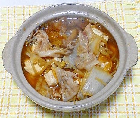 担々麺スープでお鍋
