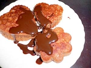 チョコ☆クルミ☆ホットケーキで簡単スイーツ♪