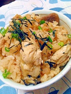 秋の定番★牡蠣とエリンギの炊き込みご飯