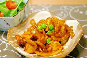鶏肉のカレー炒め
