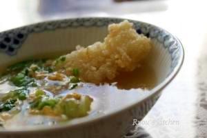 ジュージューおこげのスープ