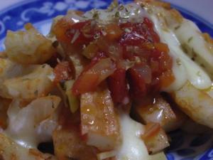 簡単でおいしい、ちくわのトマトソース炒め