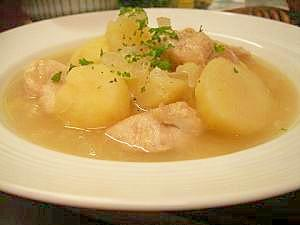 鶏肉とジャガイモヘルシースープ