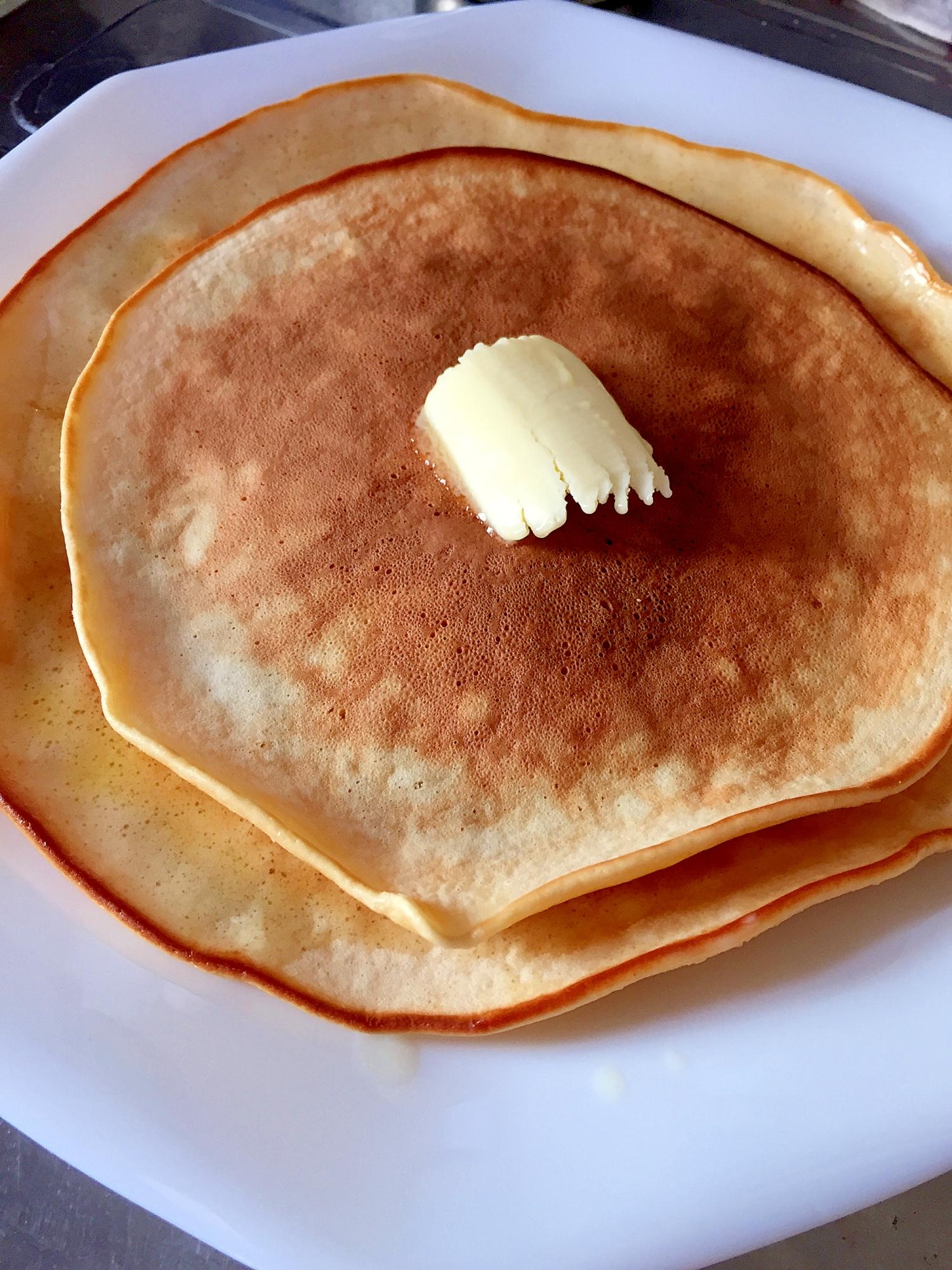 小麦粉でつくるホットケーキレシピ