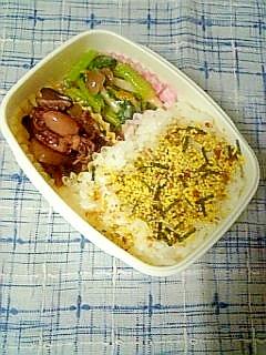 ☆小いか煮物と小松菜柚子味噌弁当☆