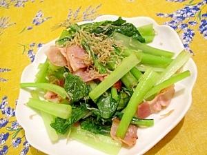 カルシウムたっぷり摂取!小松菜とじゃこの炒め物