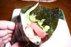 お刺身の種類が多く売っていた時は手巻き寿司