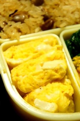 お弁当救世主伝説その43、豆腐の味噌汁風卵焼き