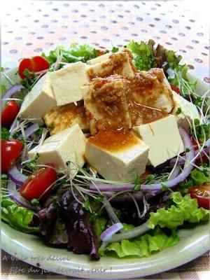 豆腐 サラダ