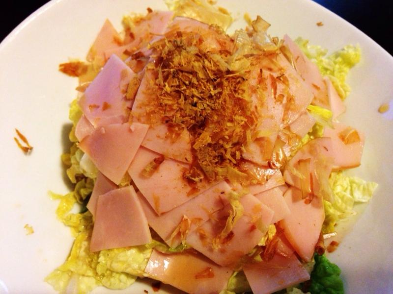 生で!?白菜とハムのサラダ