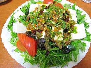 お酒の友☆豆腐とピータンのサラダ