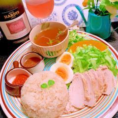 爽やか×ぷちぷち食感の塩レモンマヨ海南鶏飯